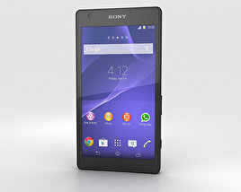 3D model of Sony Xperia Z2a Black