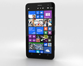 3D model of Nokia Lumia 1320 Black