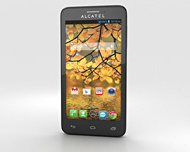 3D model of Alcatel One Touch Fierce Silver