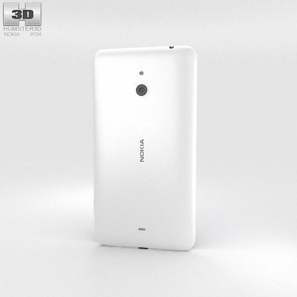 Nokia Lumia 1320 White 3d model