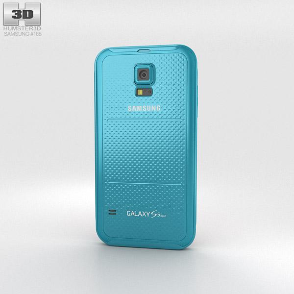 Samsung Galaxy S5 Sport Electric Blue 3d model