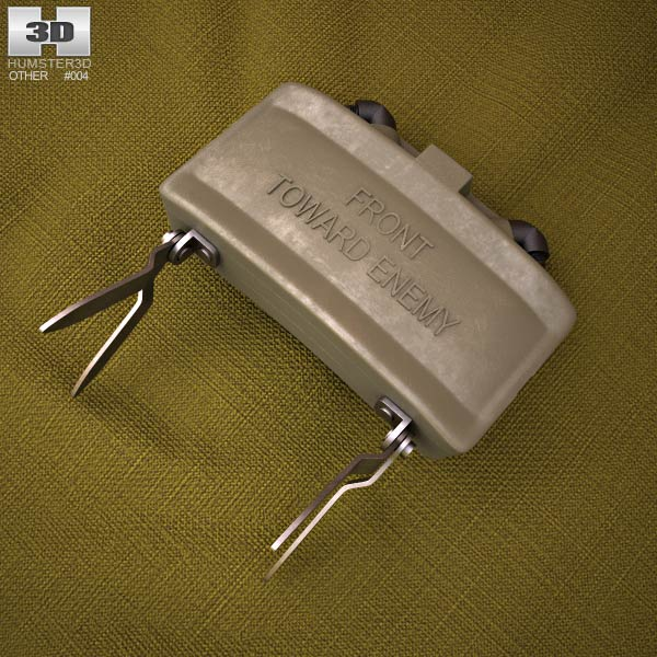 3D model of M18 Claymore mine