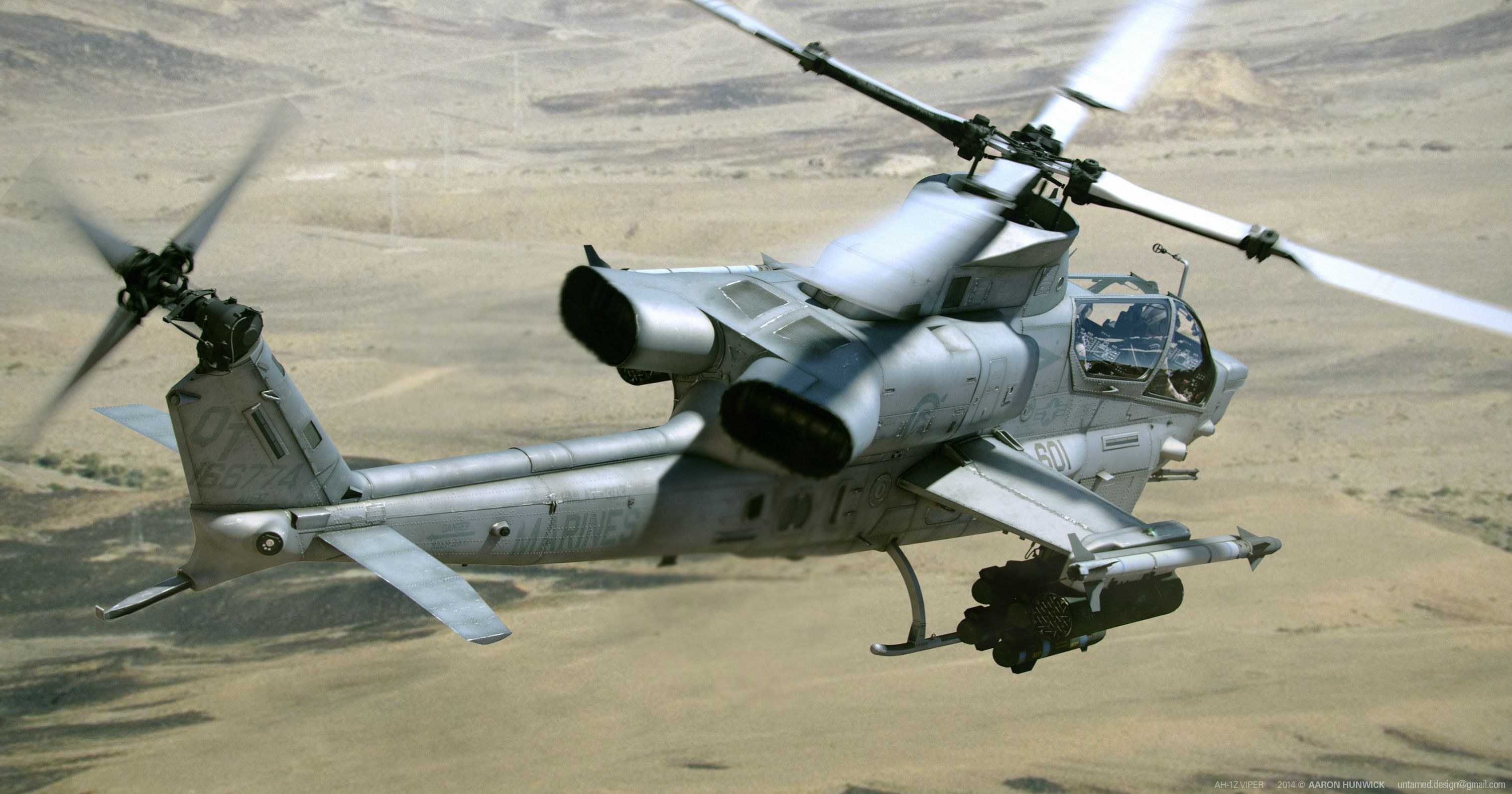 Bell AH-1Z Helicopter