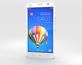3D model of Huawei Honor 3X G750 White