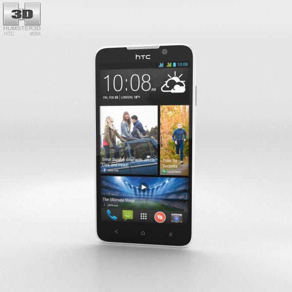 HTC Desire 516 White 3d model