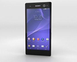 3D model of Sony Xperia C3 Black