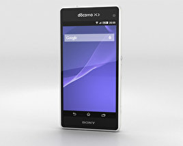 3D model of Sony Xperia A2 SO-04F White