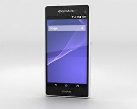 Sony Xperia A2 SO-04F White 3D model