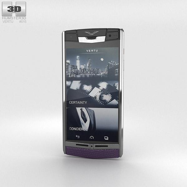Vertu Signature Touch Damson Lizard 3d model