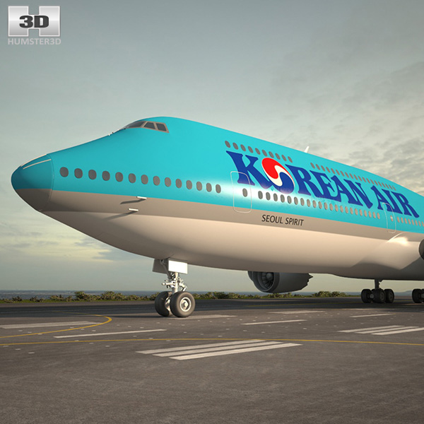 3D model of Boeing 747-8I Korean Air