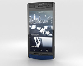3D model of Vertu Signature Touch Pure Navy Lizard