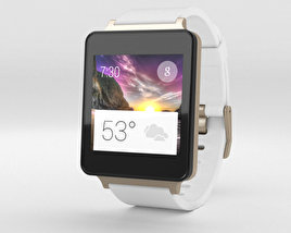 3D model of LG G Watch White Gold