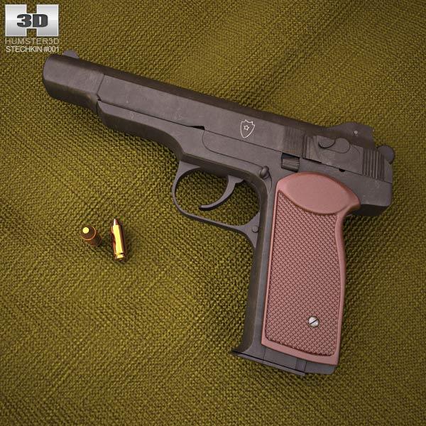Stechkin automatic pistol 3d model