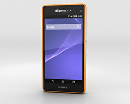 3D model of Sony Xperia A2 SO-04F Yellow