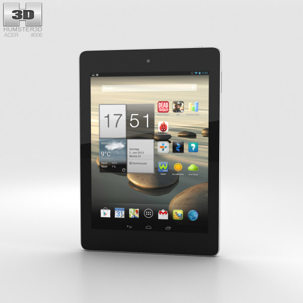 Acer Iconia Tab A1-810 White 3d model