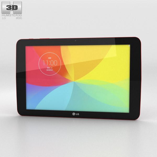 LG G Pad 10.1 Red 3D model