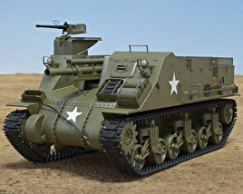 3D model of M7 Priest