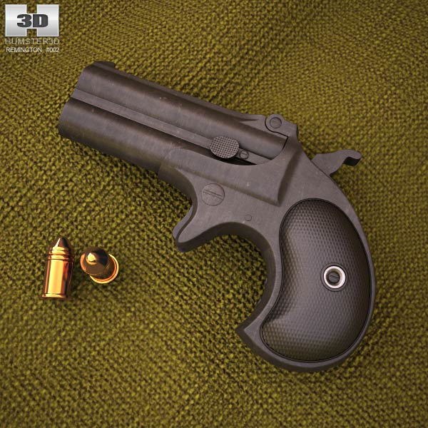 3D model of Remington 1866 Derringer