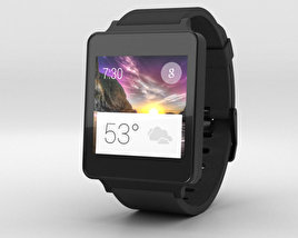 LG G Watch Black Titan 3D model