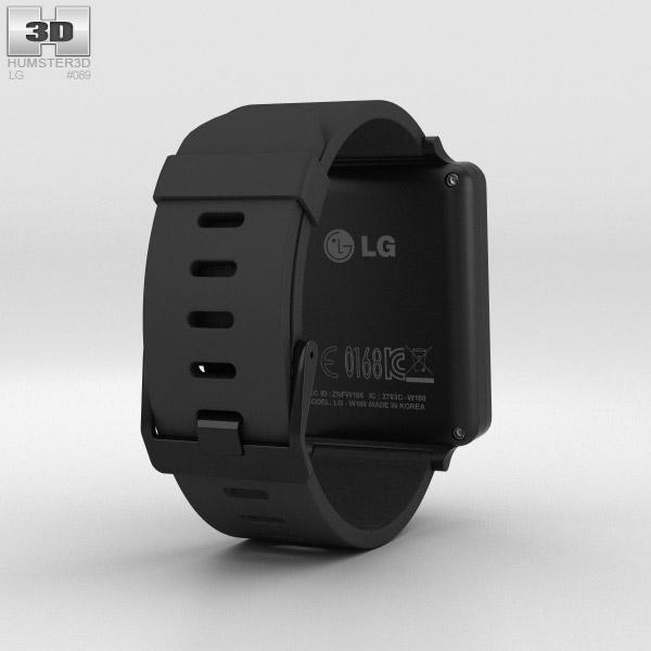 LG G Watch Black Titan 3d model