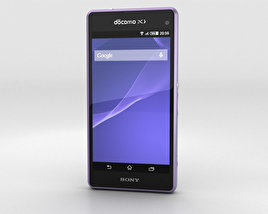 3D model of Sony Xperia A2 SO-04F Purple
