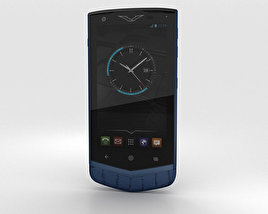 3D model of Vertu Constellation 2013 Pure Navy Alligator