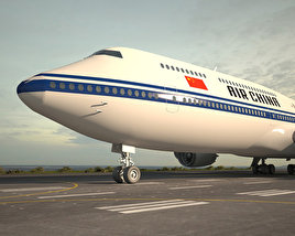3D model of Boeing 747-8I Air China