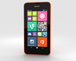 3D model of Nokia Lumia 530 Bright Orange