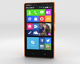 3D model of Nokia X2 Glossy Orange