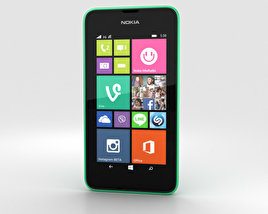 3D model of Nokia Lumia 530 Bright Green