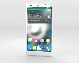 3D model of ZTE Grand Memo II LTE White