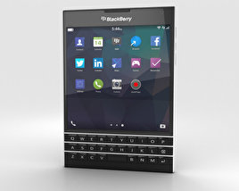 3D model of BlackBerry Passport Black