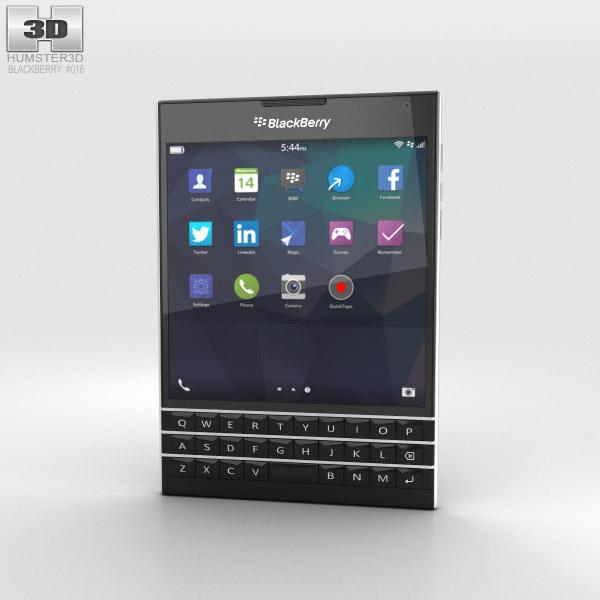 BlackBerry Passport Black 3D model