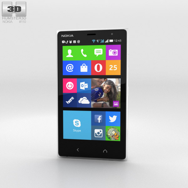 3D model of Nokia X2 White