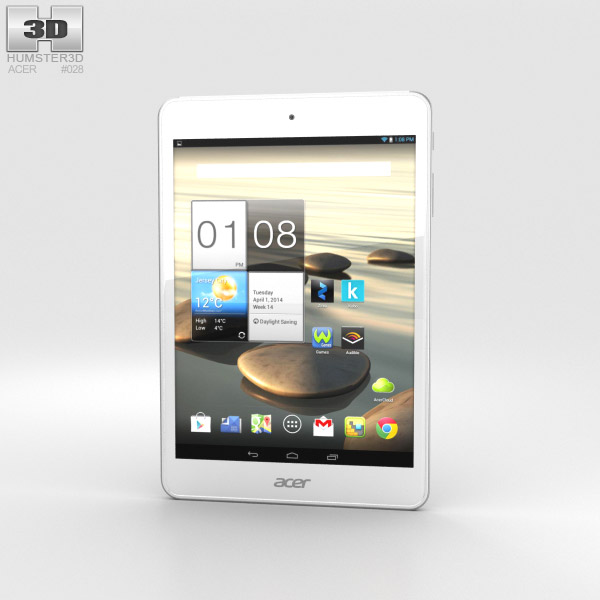 Acer Iconia A1-830 White 3d model