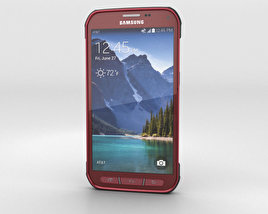 3D model of Samsung Galaxy S5 Active Ruby Red