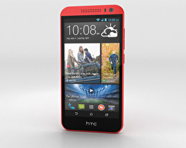 3D model of HTC Desire 616 Red