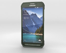 3D model of Samsung Galaxy S5 Active Camo Green