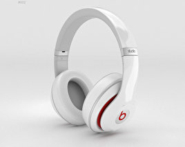 3D model of Beats by Dr. Dre Studio Over-Ear Headphones White