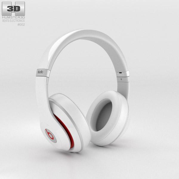 Beats by Dr. Dre Studio Over-Ear Headphones White 3d model