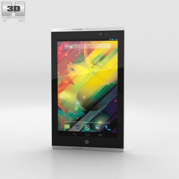 HP Slate 7 VoiceTab Black 3d model