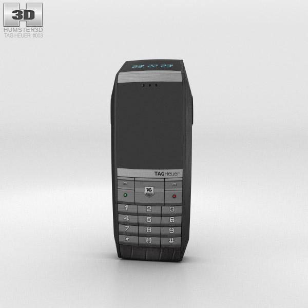 3D model of TAG Heuer Meridiist GMT PVD Black Alligator