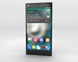 3D model of ZTE Grand Memo II LTE Black