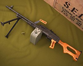 3D model of PK machine gun