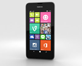 3D model of Nokia Lumia 530 Dark Grey