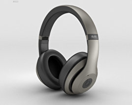 3D model of Beats by Dr. Dre Studio Over-Ear Headphones Titanium