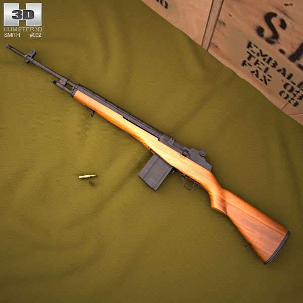 3D model of M14 rifle