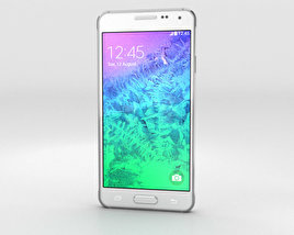 3D model of Samsung Galaxy Alpha Dazzling White