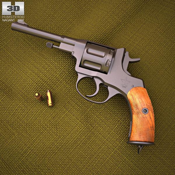 3D model of Nagant M1895