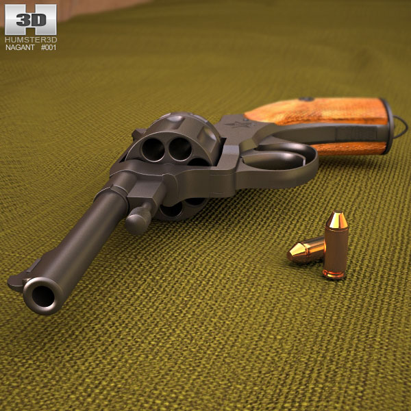Nagant M1895 3D模型